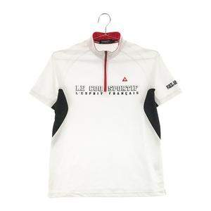 【即決】LECOQ GOLF ルコックゴルフ ハーフジップ半袖Tシャツ ホワイト系 L [240001586466] ゴルフウェア メンズ