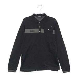 【即決】LECOQ GOLF ルコックゴルフ 長袖ポロシャツ ブラック系 M [240001549086] ゴルフウェア メンズ