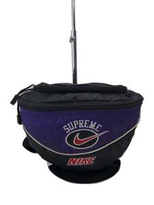 Supreme◆19SS/NIKE Shoulder Bag/ウエストバッグ/ナイロン/ブラック