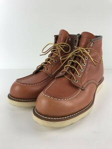 RED WING◆レースアップブーツ・6インチクラシックモックトゥ/US9/RED/レザー