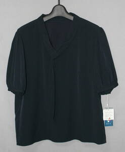 ★331♪a.v.v ネイビー濃紺系半袖トップス シャツ ボウタイ レディース XLサイズ♪