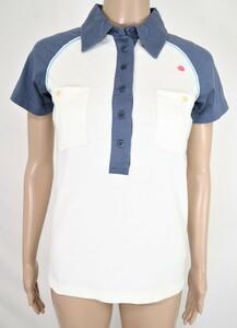 *訳あり92%OFF新品 ヴィンテージ55 VINTAGE55 半袖 カットソー ポロシャツ コットン 定価16,500円(税込)サイズ42(M~L)ホワイトLCT679