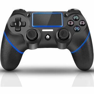 PS4 ワイヤレス コントローラー 無線 互換Bluetooth接続 ジャイロセンサー 全バージョン対応 純正をほぼ再現した社外品