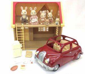 シルバニアファミリー まとめ売り セット FC0838 家 家具 人形 車 ウサギ クマ ネコ 赤ちゃん 家具