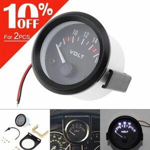 【値下げ交渉OK】2 52 ミリメートル dc 12 v ユニバーサルブラック led 電気自動車電圧計電圧計メーター