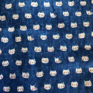 コットンこばやし ダブルガーゼ 猫ちゃん柄 110×50(cm)ラスト1枚