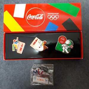東京オリンピック ピンバッチ ピンバッジ 2020 コカ・コーラ サッカー リクシル キッチン ピンズ 未使用