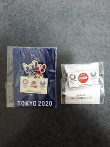 東京オリンピック ピンバッジ ピンバッチ  2020 コカ・コーラ アース製薬 ミライトワ 未使用