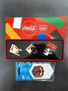 東京オリンピック ピンバッジ ピンバッチ 2020 コカ・コーラ 体操 EF 陸上 ピンズ 未使用