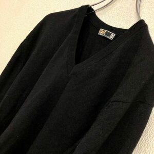 G95 DAKS GOLF ダックス ゴルフ 長袖 ニット サイズ不明 Lサイズ程度 ブラック 黒 (60)