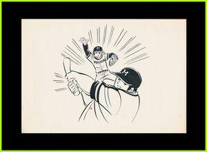 セル画無直筆原画★ヨ8あぶさん野球狂の詩の水島新司作龍神丸クレヨンしんちゃんアクション仮面ガンダムドズル役玄田哲章出演ドカベン