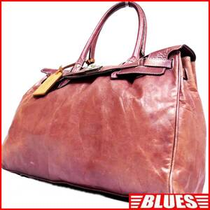 即決★aniary★レザーハンドバッグ アニアリ メンズ 赤 紫 本革 トートバッグ 本皮 かばん 鞄 レディース 手提げバッグ