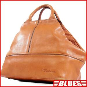 即決★EL Dolman★レザーハンドバッグ ドルマン メンズ 茶 本革 トートバッグ 本皮 かばん 鞄 レディース 手提げバッグ
