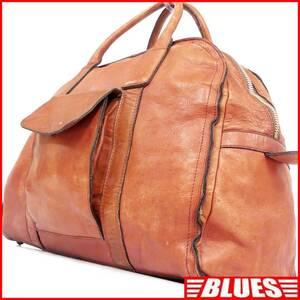 即決★N.B.★オールレザーボストンバッグ メンズ 茶 本革 トラベル 本皮 かばん 出張 カバン 旅行かばん 鞄