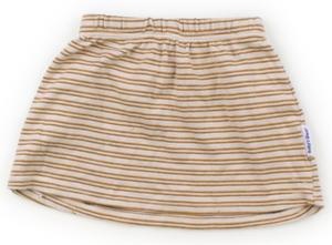 ベビーズオウン Baby's Own スカート 80 女の子 ベージュボーダー 子供服 ベビー服 キッズ(571815)