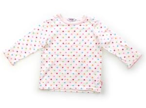 ミキハウス miki HOUSE Tシャツ・カットソー 70 女の子 白、ドット柄 子供服 ベビー服 キッズ(586254)