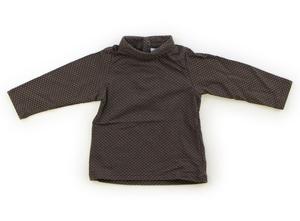 オバイビ OBAIBI Tシャツ・カットソー 70 女の子 グレー、ゴールドドット柄 子供服 ベビー服 キッズ(686068)