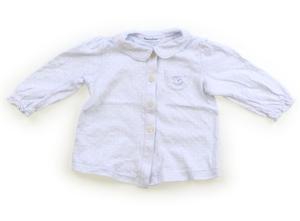 ファミリア familiar Tシャツ・カットソー 70 女の子 水色、ドット柄 子供服 ベビー服 キッズ(686711)