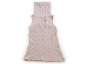 コンビミニ Combimini ジャンパースカート 80 女の子 ベージュ、結晶柄 子供服 ベビー服 キッズ(712331)