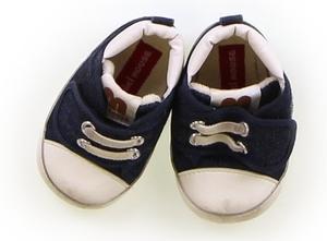ミキハウス miki HOUSE フラットシューズ・スリッポン 靴ベビー12cm以下 男の子 白・紺 子供服 ベビー服 キッズ(694705)