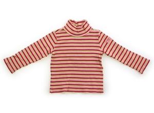 ミキハウス miki HOUSE Tシャツ・カットソー 100 女の子 赤黄緑ボーダー 子供服 ベビー服 キッズ(707926)