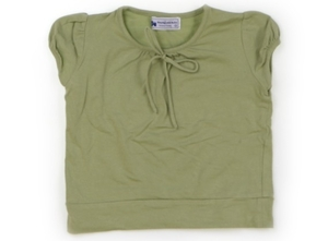 サヱグサ SAYEGUSA Tシャツ・カットソー 100 女の子 黄緑 子供服 ベビー服 キッズ(735728)