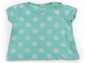 プチバトー PETIT BATEAU Tシャツ・カットソー 60 女の子 ミントグリーン×ドット柄 子供服 ベビー服 キッズ(740135)