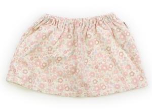 コムサイズム COMME CA ISM スカート 80 女の子 アイボリー・ピンク・花柄 子供服 ベビー服 キッズ(759446)