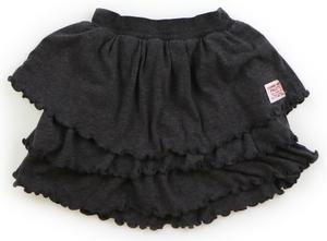 コンビミニ Combimini スカート 80 女の子 濃いグレー・フリル 子供服 ベビー服 キッズ(760695)