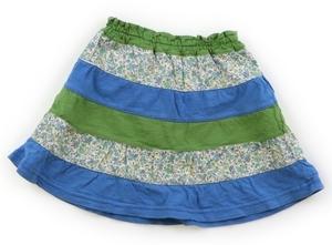ラグマート Rag Mart スカート 90 女の子 緑・青小花柄 子供服 ベビー服 キッズ(765162)