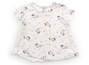 ザラ ZARA Tシャツ・カットソー 80 女の子 白・黒・紫緑黄 子供服 ベビー服 キッズ(790175)