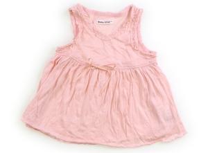 べべ BeBe タンクトップ・キャミソール 90 女の子 薄ピンク 子供服 ベビー服 キッズ(788838)