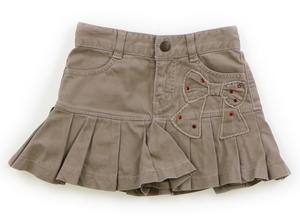 シャーリーテンプル Shirley Temple スカート 100 女の子 ベージュ・ネイビーチェック 子供服 ベビー服 キッズ(790370)