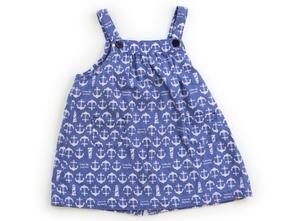 コンビミニ Combimini ジャンパースカート 80 女の子 水色・白・碇 子供服 ベビー服 キッズ(791243)