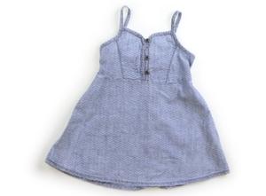 オールドネイビー OLDNAVY ジャンパースカート 90 女の子 水色・白 子供服 ベビー服 キッズ(793412)