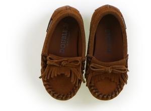 ダブルB Double B フラットシューズ・スリッポン 靴15cm~ 女の子 茶色 子供服 ベビー服 キッズ(796387)