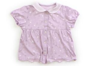 コムサデモード COMME CA DU MODE Tシャツ・カットソー 90 女の子 薄紫、ドット柄 子供服 ベビー服 キッズ(797919)