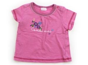 コンビミニ Combimini Tシャツ・カットソー 80 女の子 ピンク紫・紫青花 子供服 ベビー服 キッズ(795264)