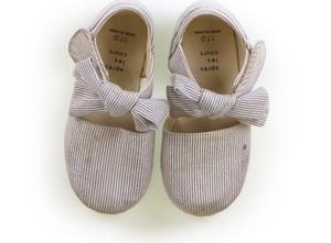 アプレレクール apres les cours フラットシューズ・スリッポン 靴17cm~ 女の子 ストライプ シルバーラメ 子供服 ベビー服 キッズ(7963