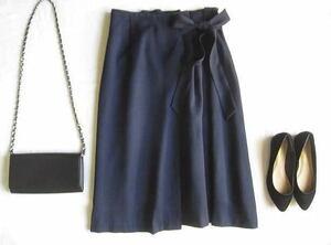 ◆クチュールブローチ  couture brooch ネイビー ウエストりぼん スカート
