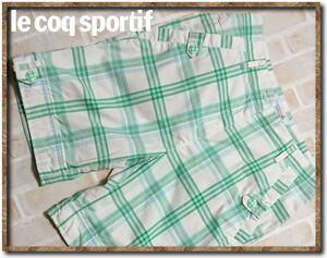 ☆le coq sportif Golf Collection ルコック チェックハーフパンツ 白系☆