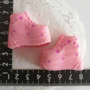 1r1 人形用 ハート ピンク 厚底 ブライス リカちゃん ジェニー ピュアニーモ スニーカー momoko 靴 シューズ 1/6ドール 靴下 ソックス可