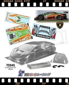 1/10 RC ランボルギーニ ウラカン HURACAN GT クリアボディ デカールセット