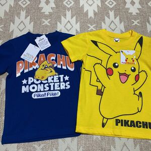 ポケットモンスター ピカチュウ 半袖Tシャツ 2枚 100ポケモン