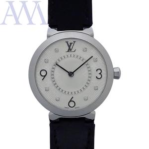 【LOUIS VUITTON ルイヴィトン】タンブール スリムPM 8Pダイヤモンド Q12MG レディース 腕時計【中古】