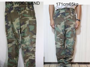 【メンズ】87年WOODLANDミリタリーパンツ/USA古着米軍ウッドランド