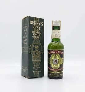 【全国送料無料】特級 BERRY'S BEST Blended Scotch Whisky 43度 48ml【ベリーズ ベスト スコッチ ウイスキー】