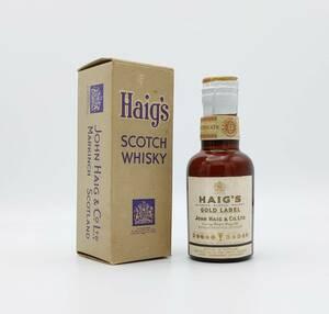 【全国送料無料】HAIG'S GOLD LABEL TIN CAP 約43度 約48ml【ヘイグ ゴールドラベル スコッチ ウイスキー ティンキャップ】