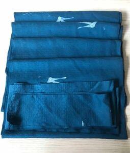 リメイク素材 ハギレ 着物 羽織ほどきかけ 正絹 (1)