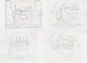 松本零士 銀河鉄道物語 大量 2カット 原画セット 1 <検索ワード> セル画 イラスト レイアウト 絵画 設定資料